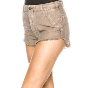 NWT Free People tan cotton shorts